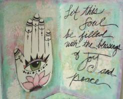 Art journal page-Hamsa